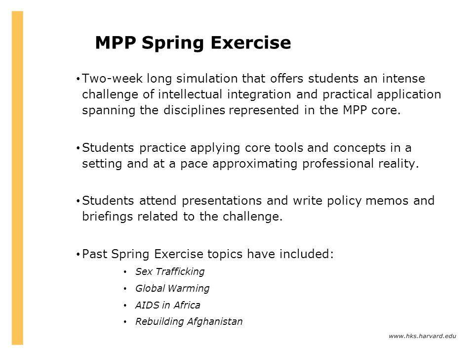 MPP Spring Exercise
