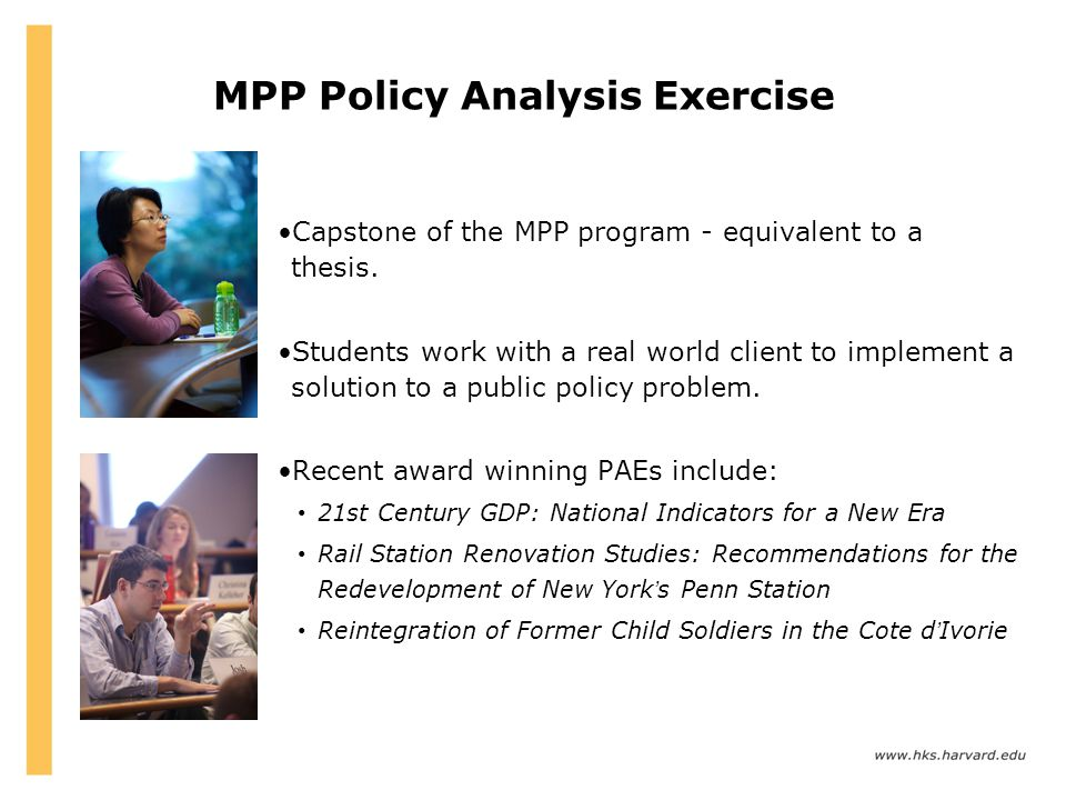MPP Policy Analysis Exercise