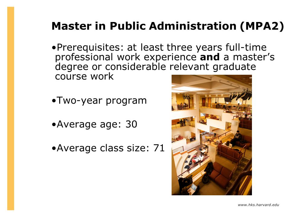 Master in Public Administration (MPA2)