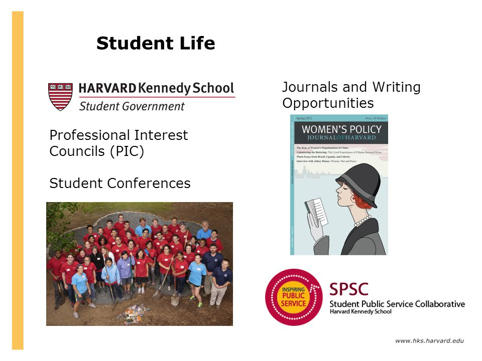 Student Life Journals and Writing Opportunities