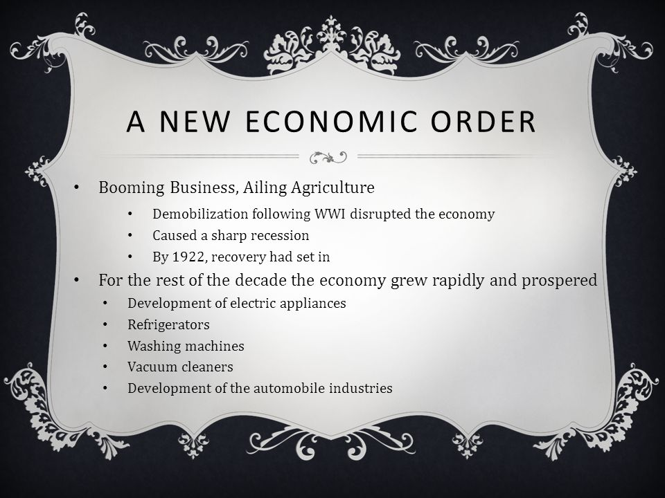 A New Economic Order Booming Business, Ailing Agriculture