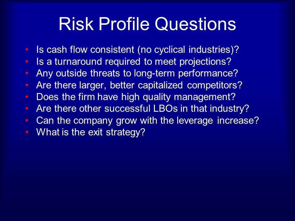 Risk Profile Questions