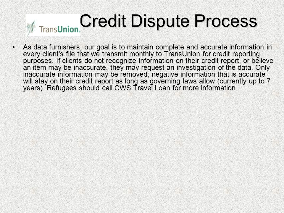 Credit Dispute Process