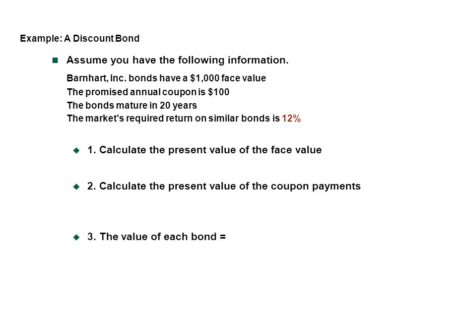 Example: A Discount Bond