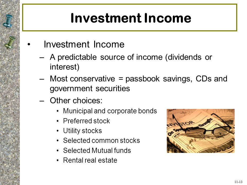 Investment Income Investment Income
