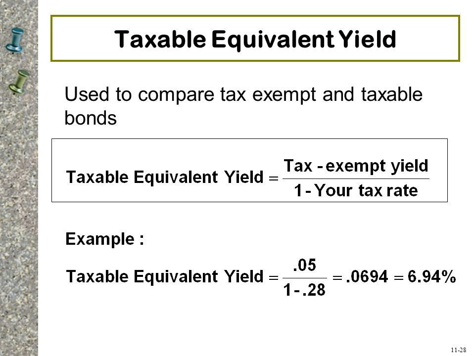 Taxable Equivalent Yield