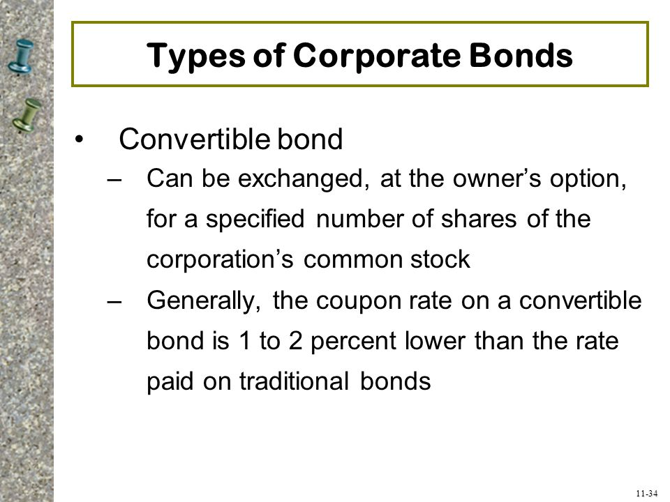 Types of Corporate Bonds