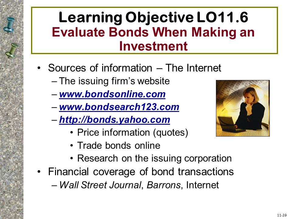 Learning Objective LO11.6 Evaluate Bonds When Making an Investment
