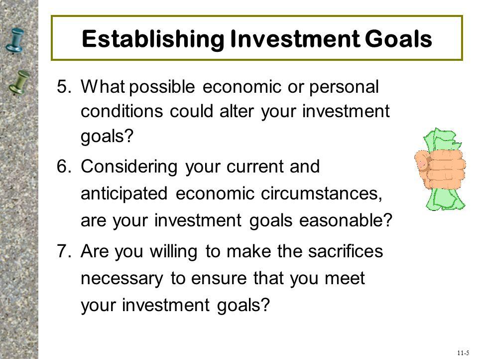 Establishing Investment Goals