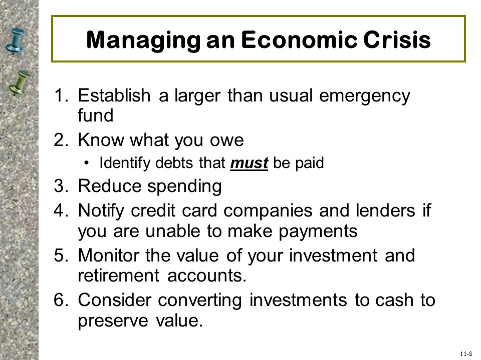 Managing an Economic Crisis