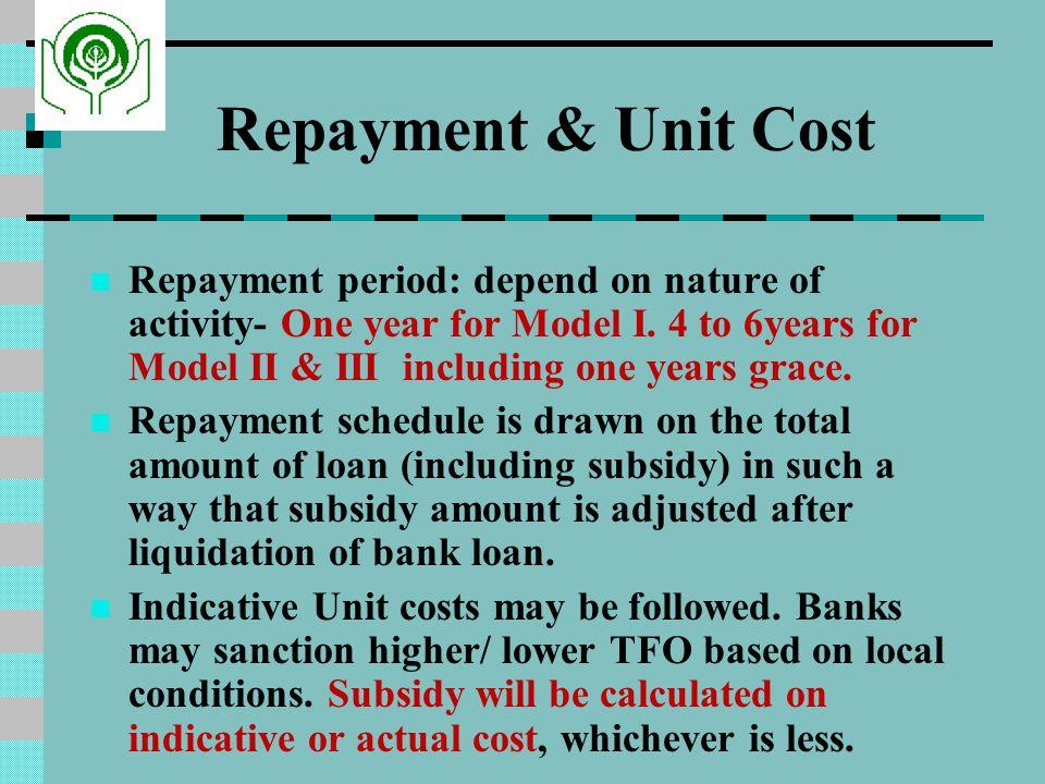 Repayment & Unit Cost
