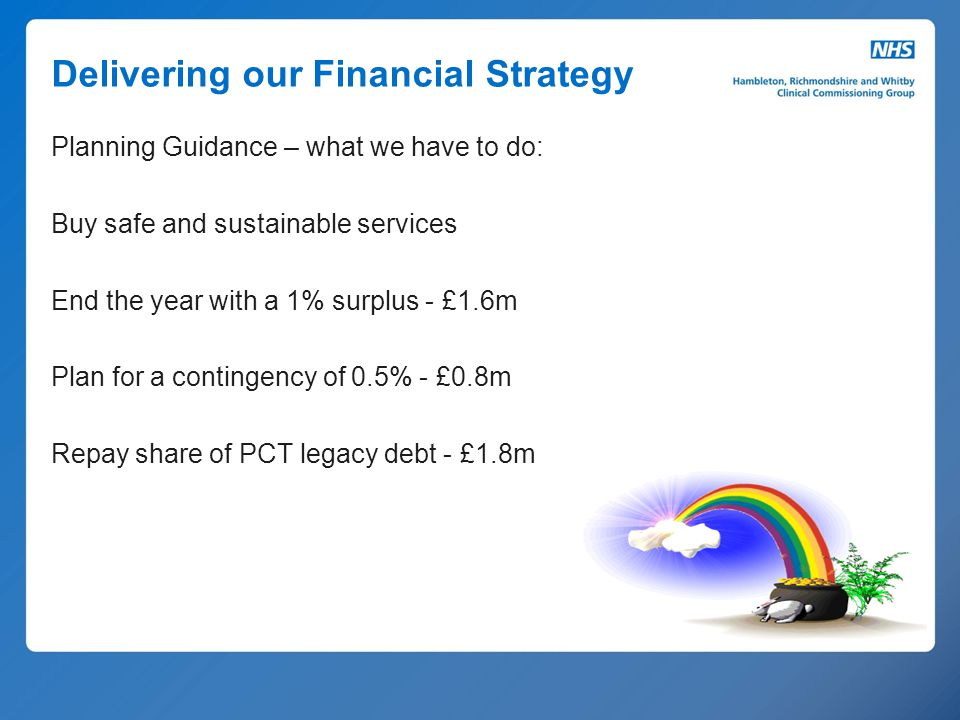 Delivering our Financial Strategy