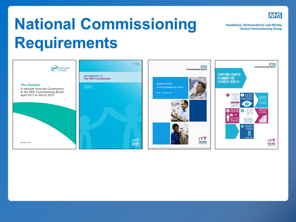 National Commissioning Requirements