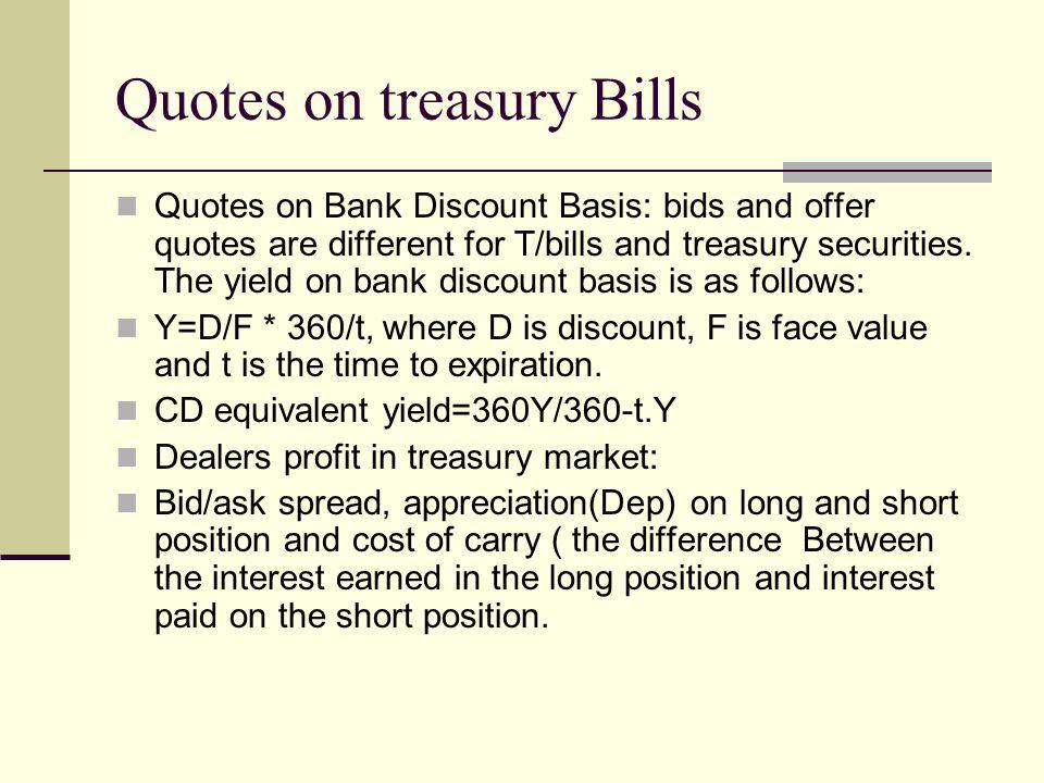Quotes on treasury Bills