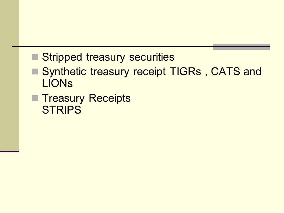 Stripped treasury securities