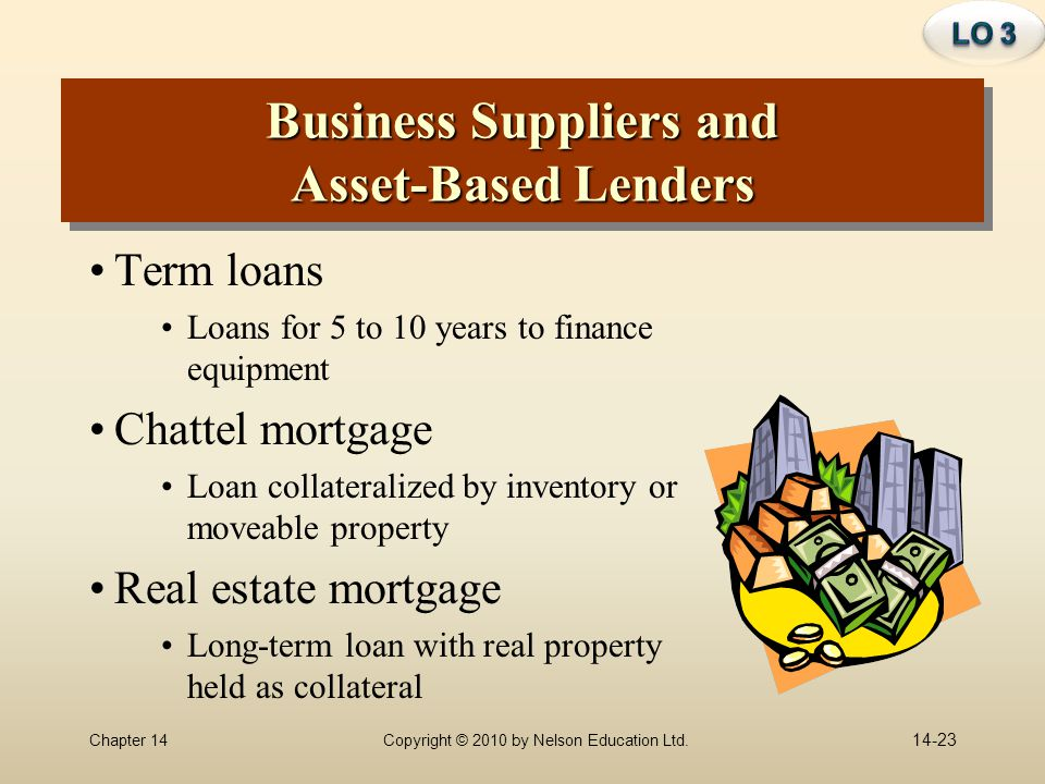 Business Suppliers and Asset-Based Lenders