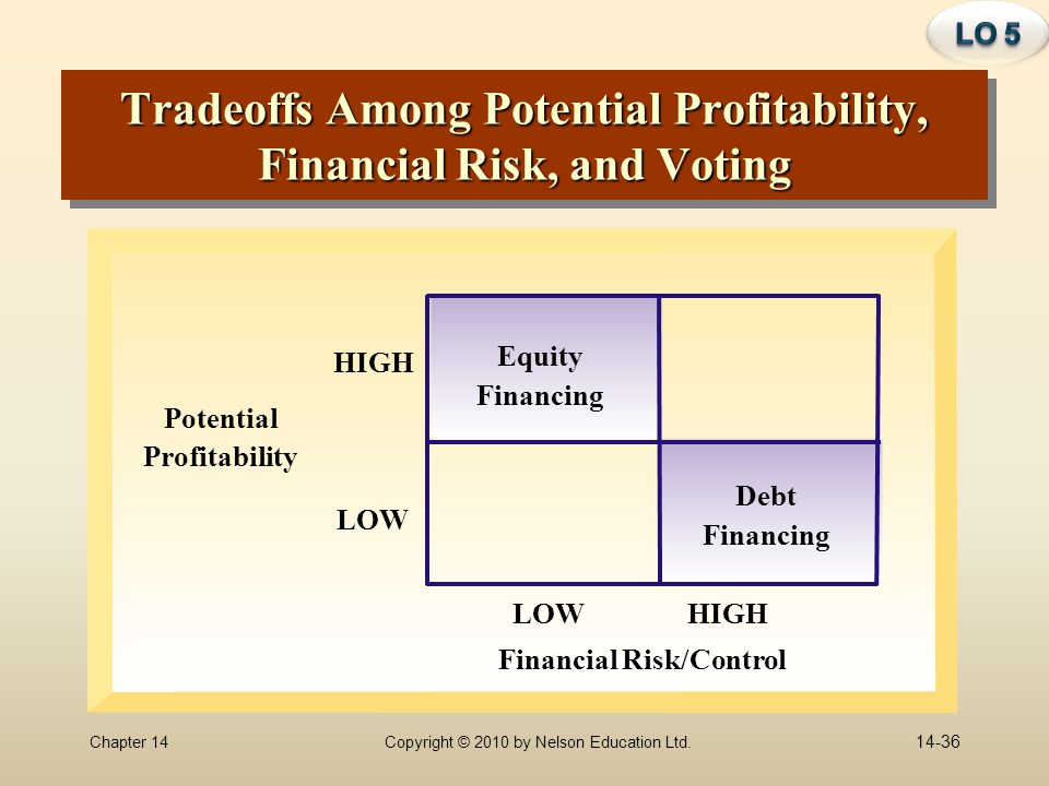 Tradeoffs Among Potential Profitability, Financial Risk, and Voting