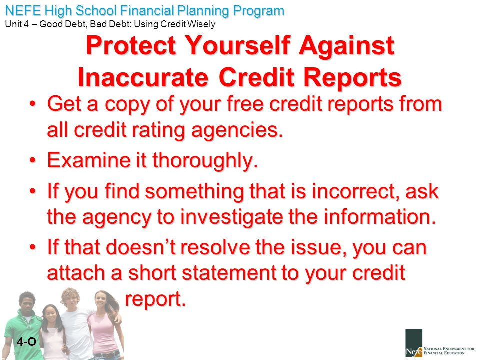 Protect Yourself Against Inaccurate Credit Reports