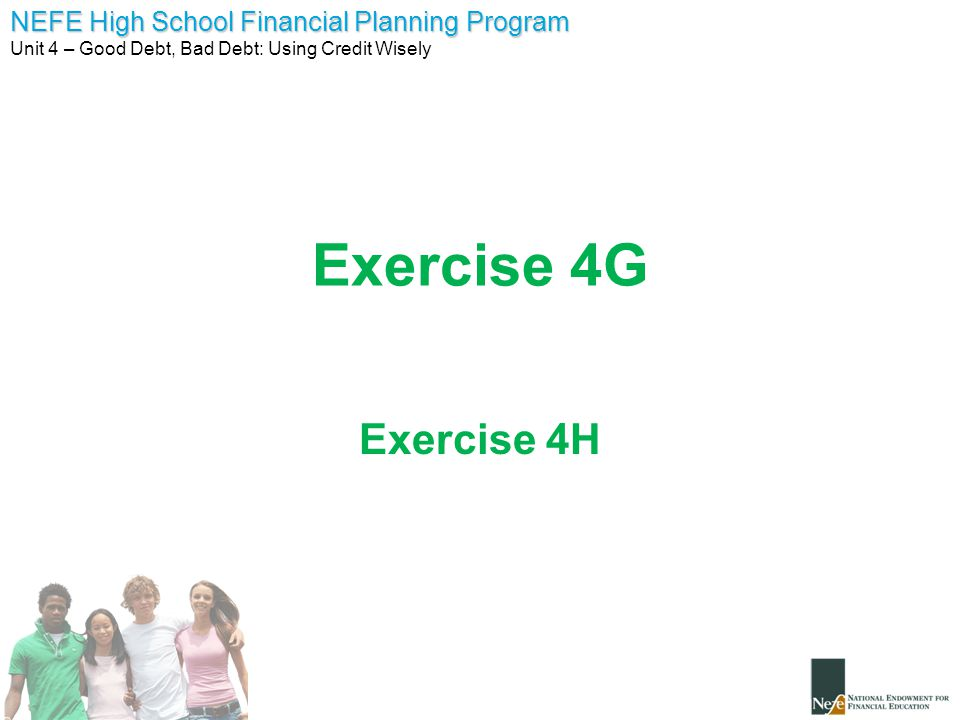 Exercise 4G Exercise 4H