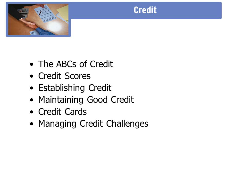 Maintaining Good Credit Credit Cards Managing Credit Challenges