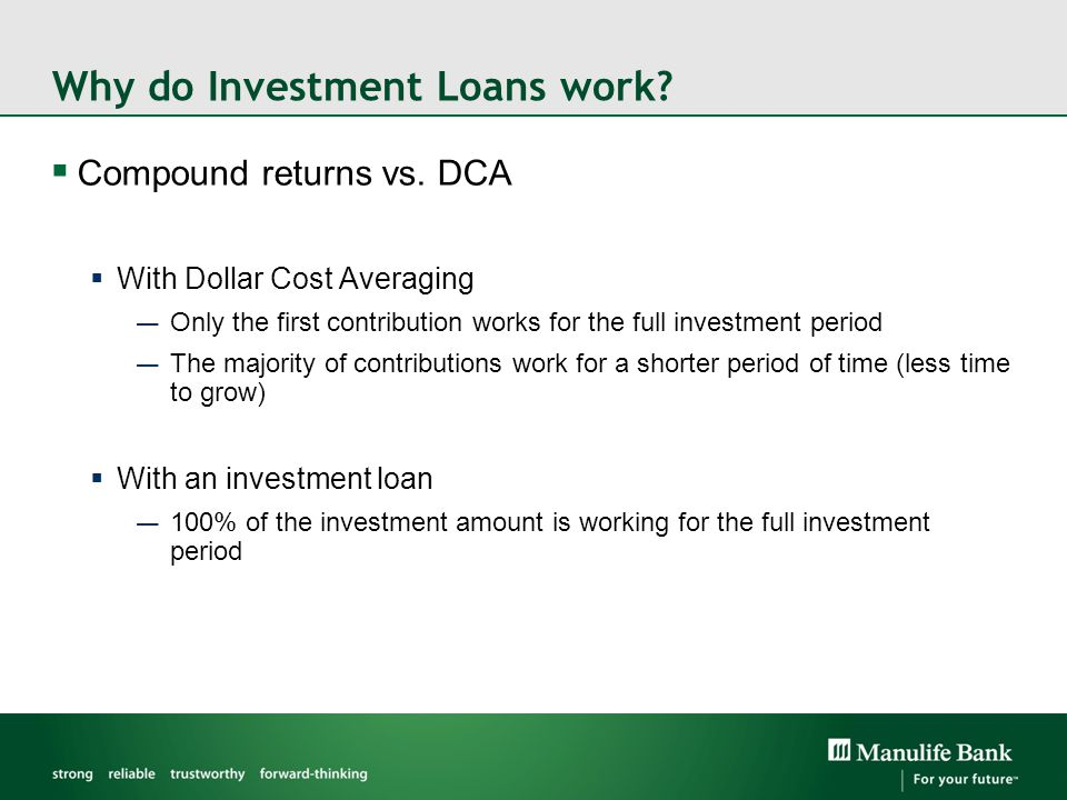 Why do Investment Loans work