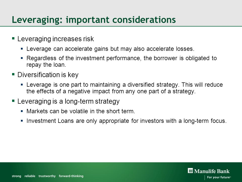 Leveraging: important considerations