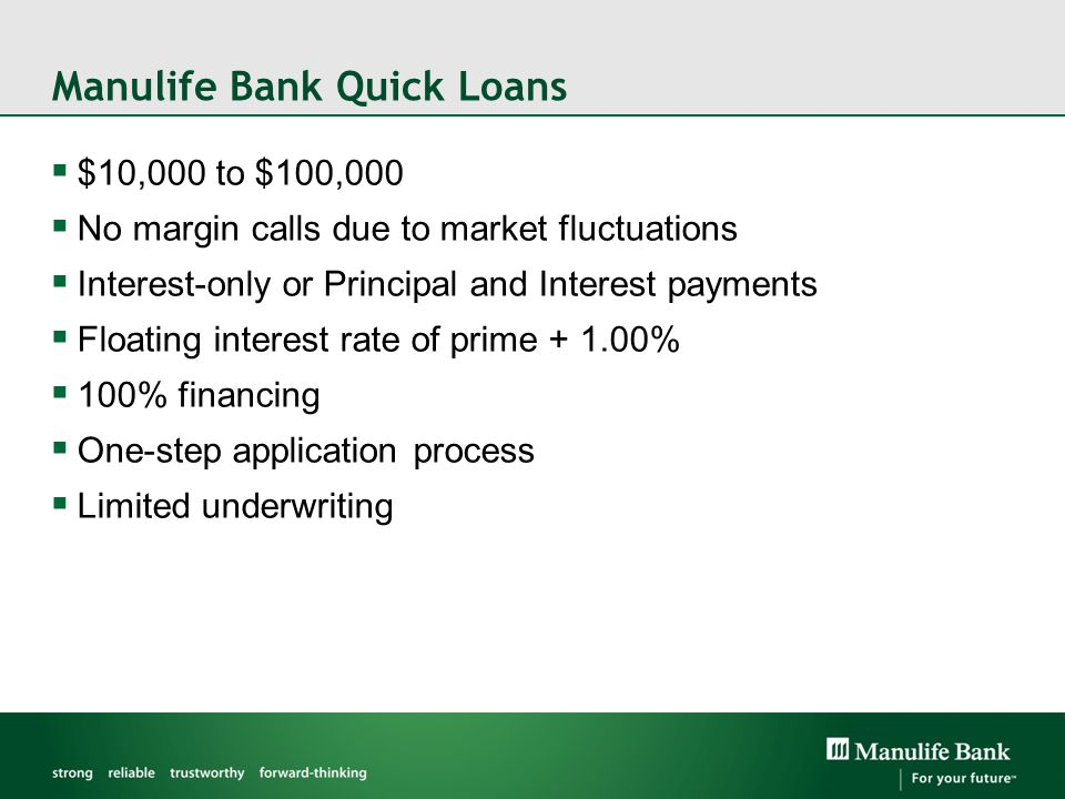 Manulife Bank Quick Loans