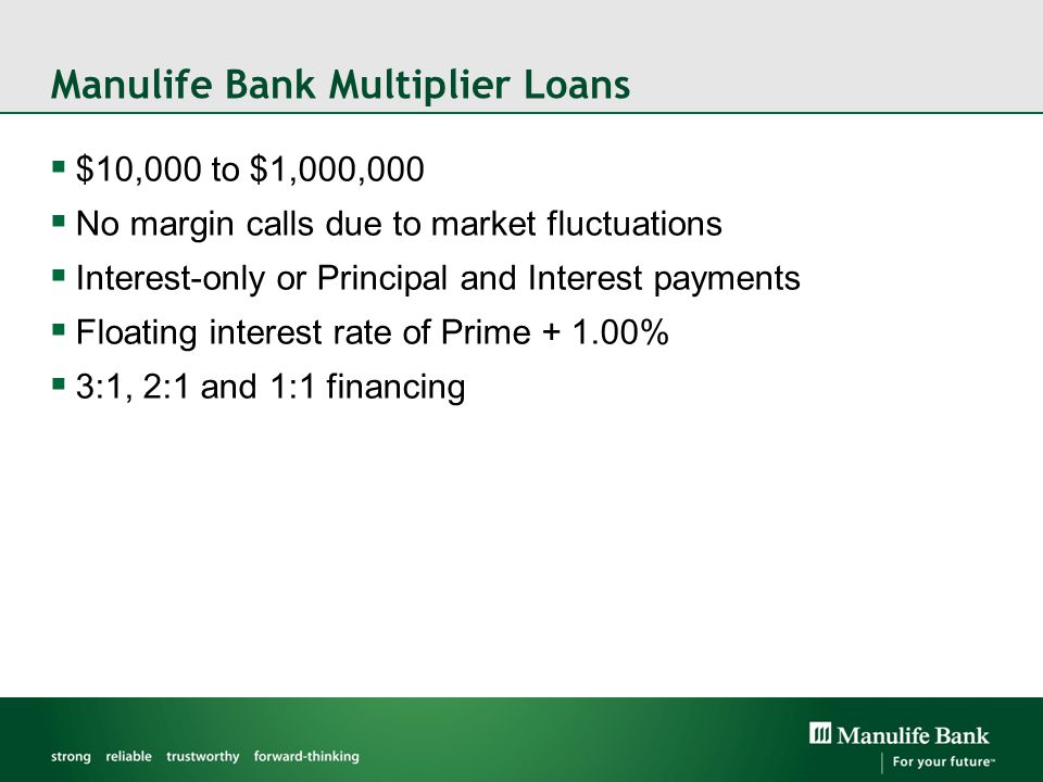 Manulife Bank Multiplier Loans