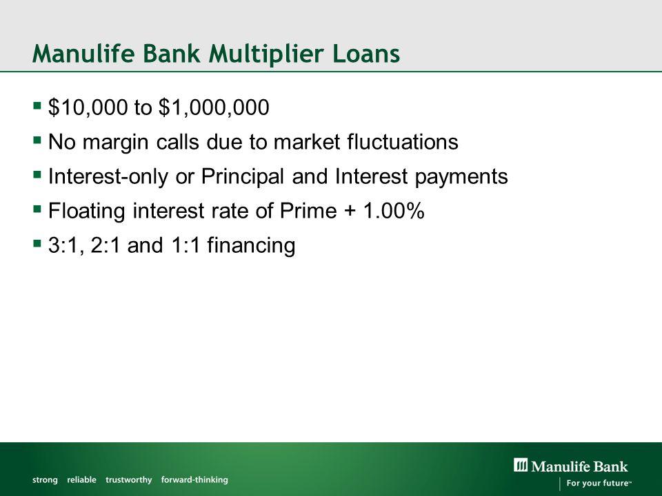 Manulife Bank Multiplier Loans