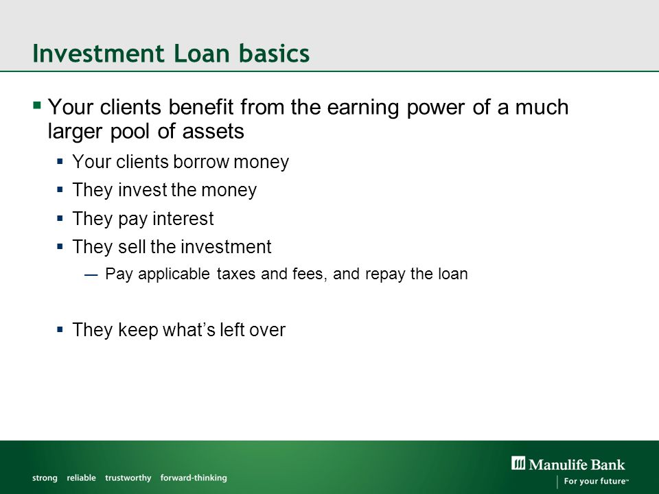 Investment Loan basics
