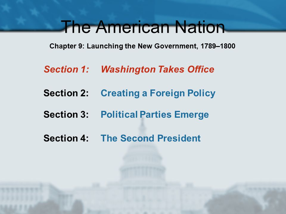 Chapter 9: Launching the New Government, 1789–1800