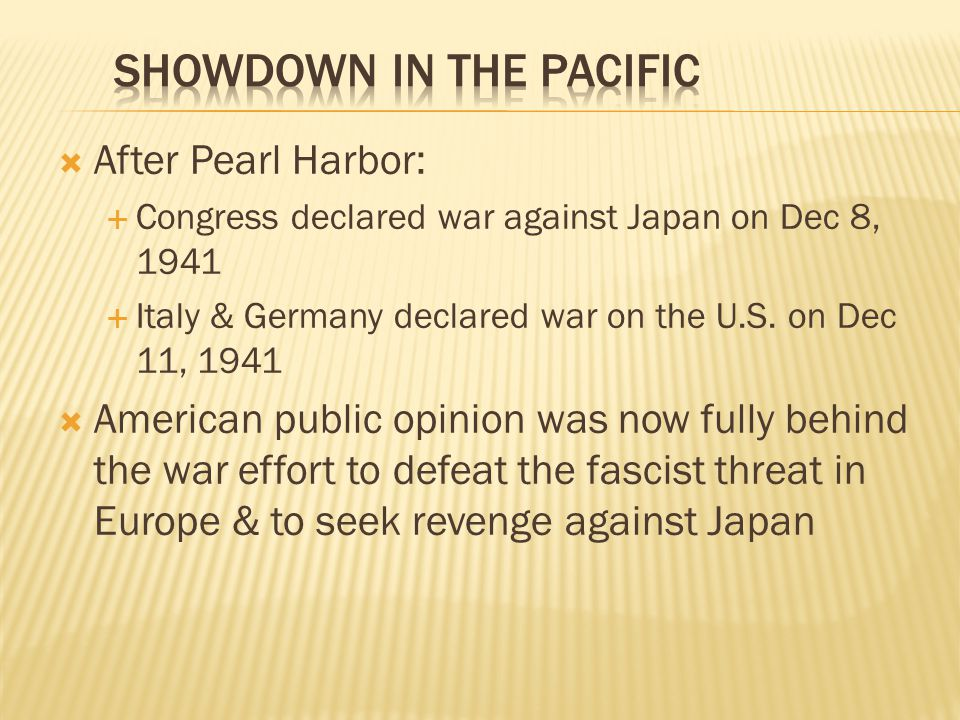 Showdown in the Pacific
