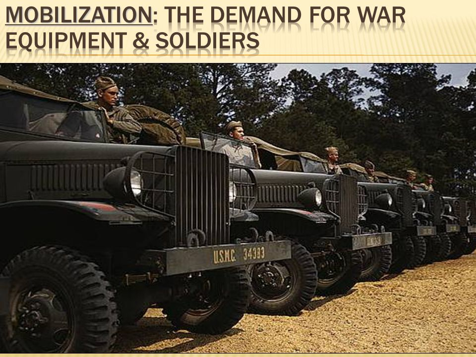 Mobilization: The Demand for War Equipment & Soldiers