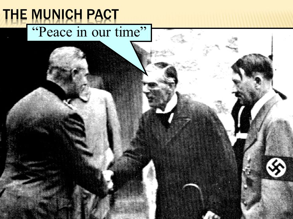 The Munich Pact Peace in our time