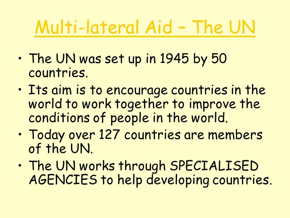 Multi-lateral Aid – The UN