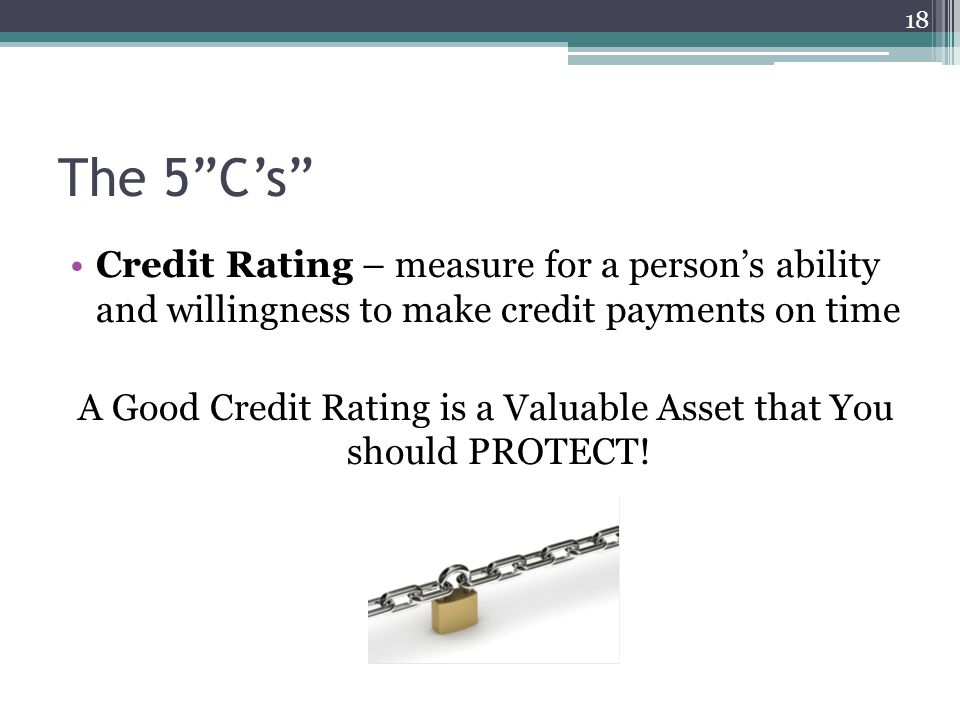 A Good Credit Rating is a Valuable Asset that You should PROTECT!