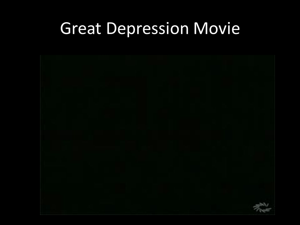 Great Depression Movie