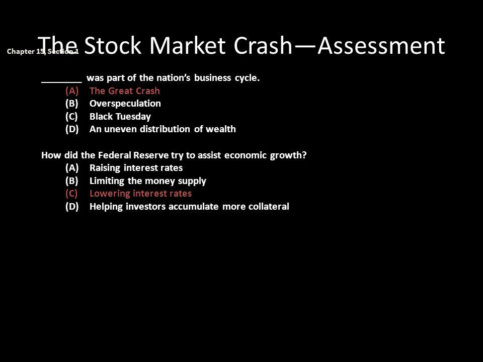 The Stock Market Crash—Assessment