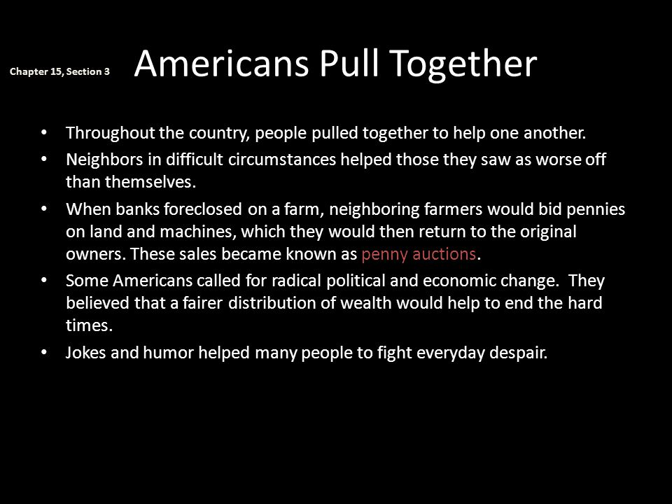 Americans Pull Together