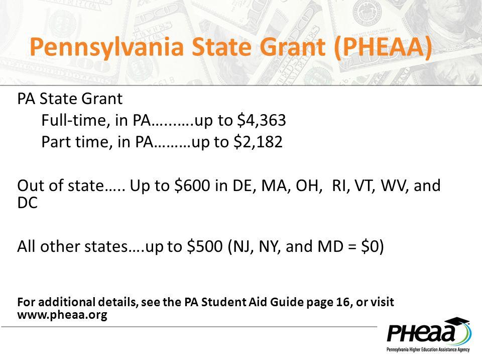 Pennsylvania State Grant (PHEAA)