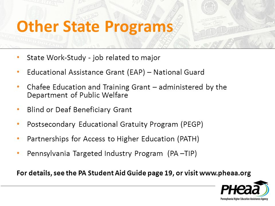PA State Work-Study Employment Program | PHEAA
