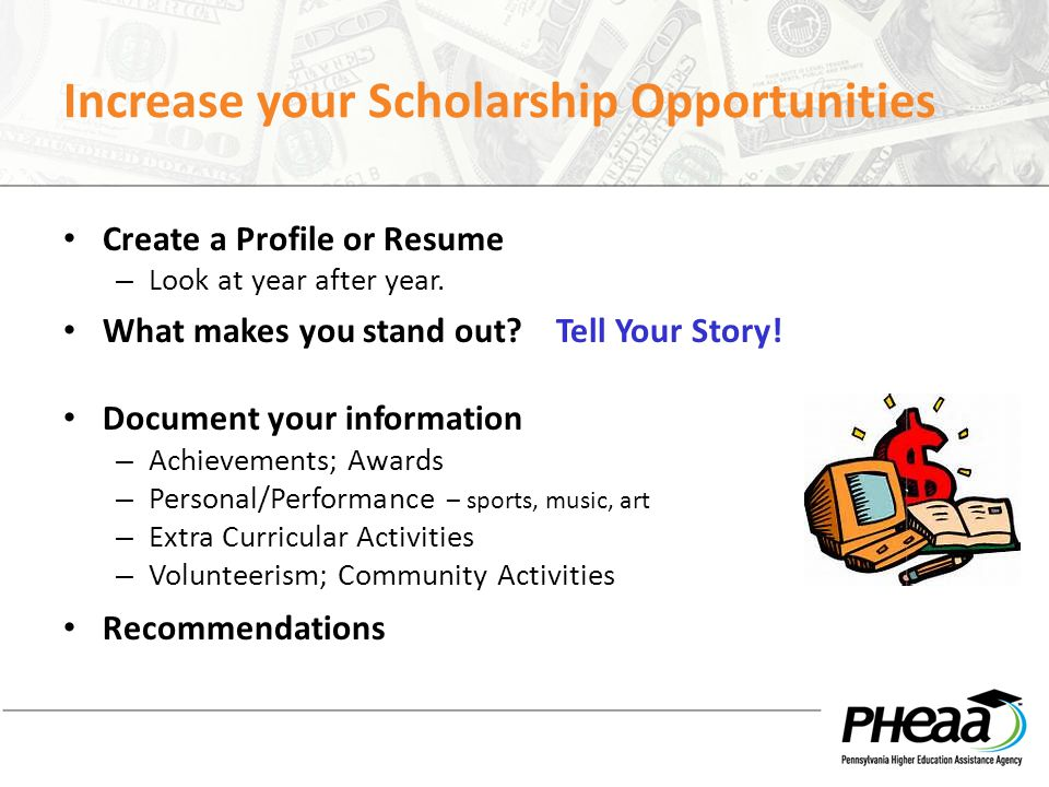Increase your Scholarship Opportunities