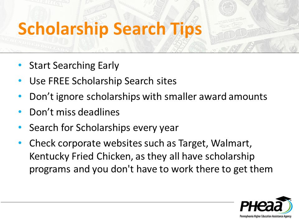 Scholarship Search Tips