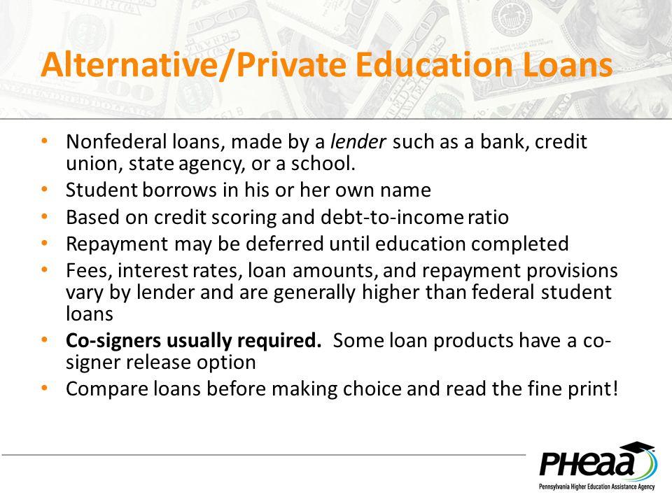 Alternative/Private Education Loans