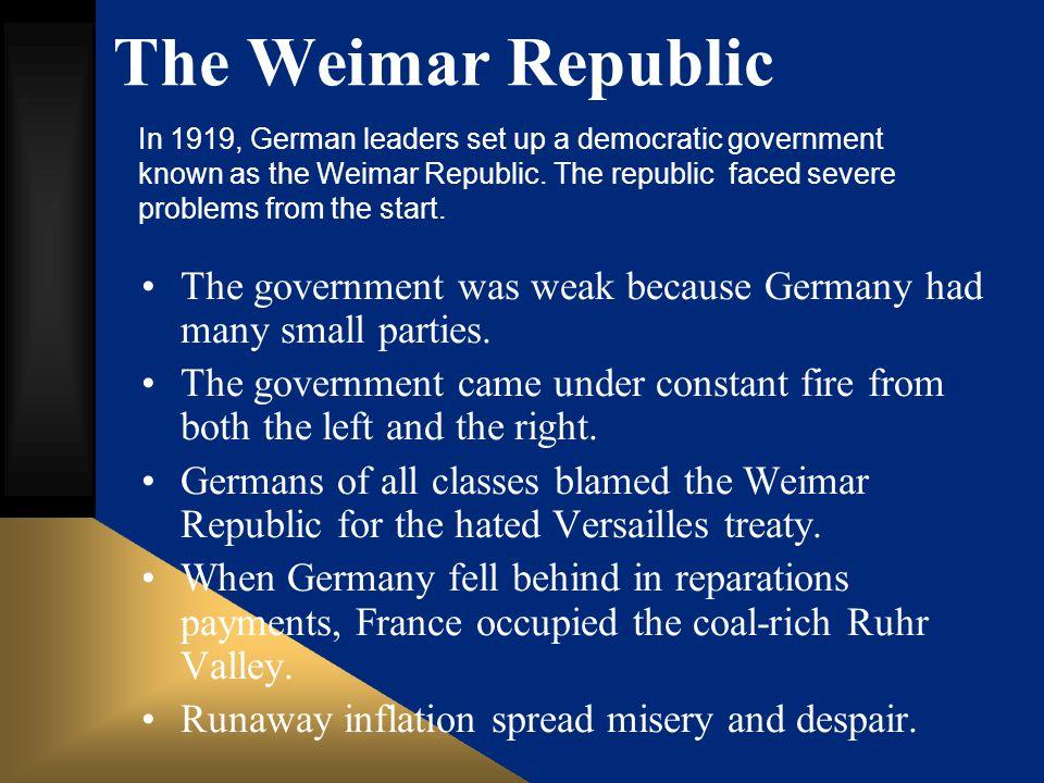 The Weimar Republic