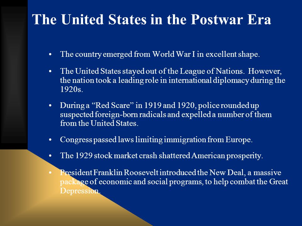 The United States in the Postwar Era