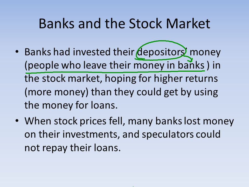 Banks and the Stock Market