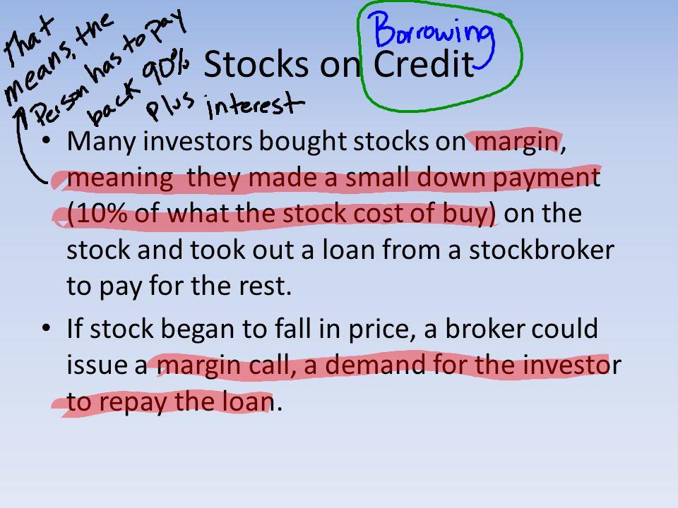 Stocks on Credit