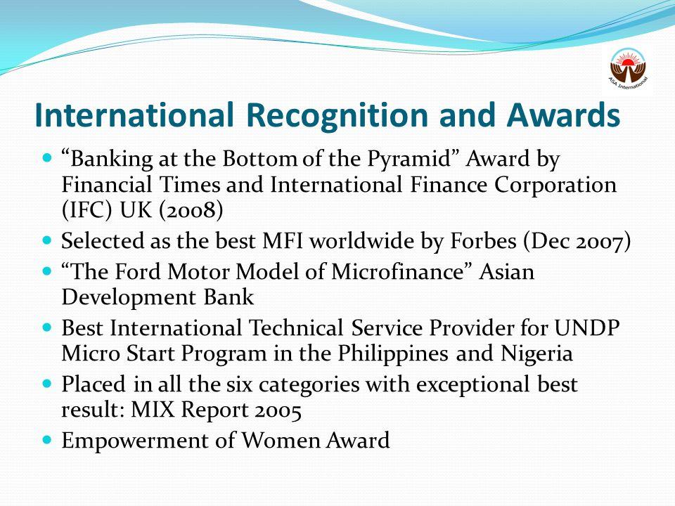 International Recognition and Awards