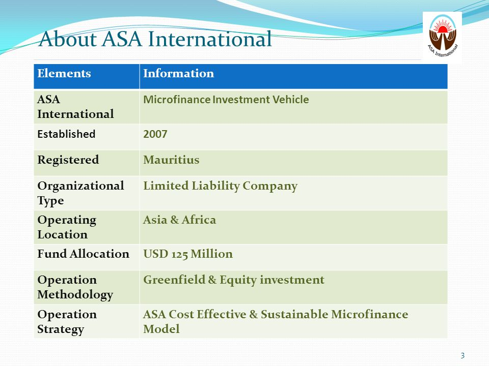 About ASA International